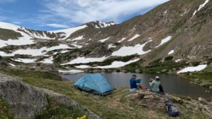 zpacks duplex: Storm Lake @11,415ft in Indian Peaks with my daughter in 2020